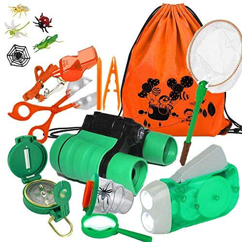 Yiran Adventure Outdoor Explorer Kit Gifts Toys, 17 Pieces ...