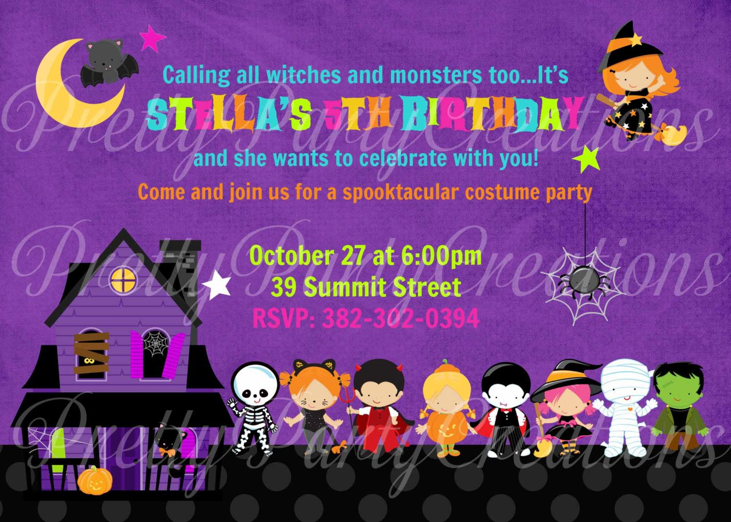 HALLOWEEN KIDS invitation - halloween party or birthday - YOU ...