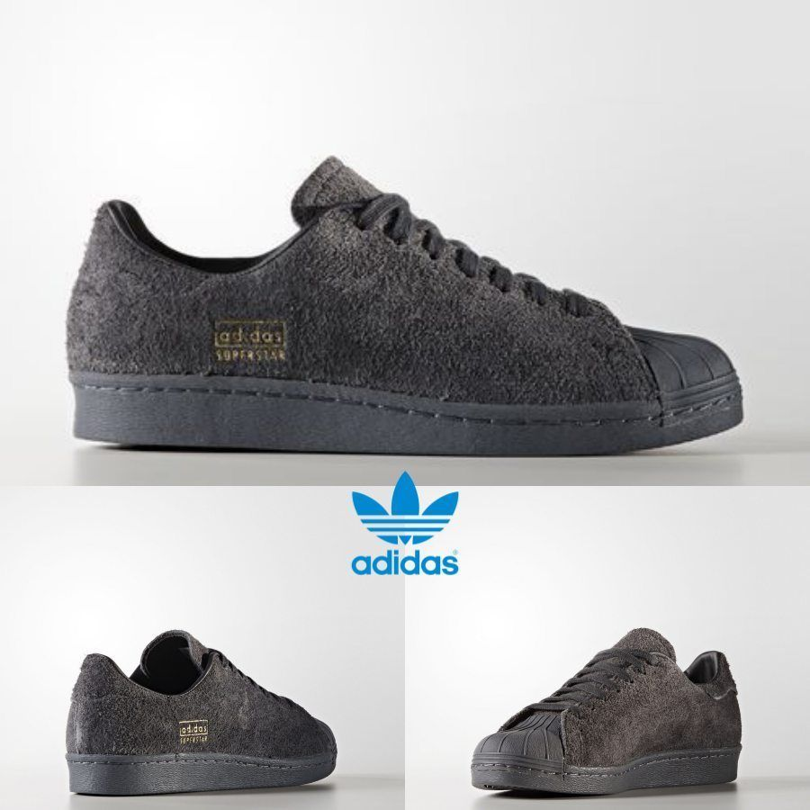 competitive price faab5 b32fa Adidas Original Superstar 80s Clean Sneakers Black Grey BZ0566 SZ 4-11  Limited