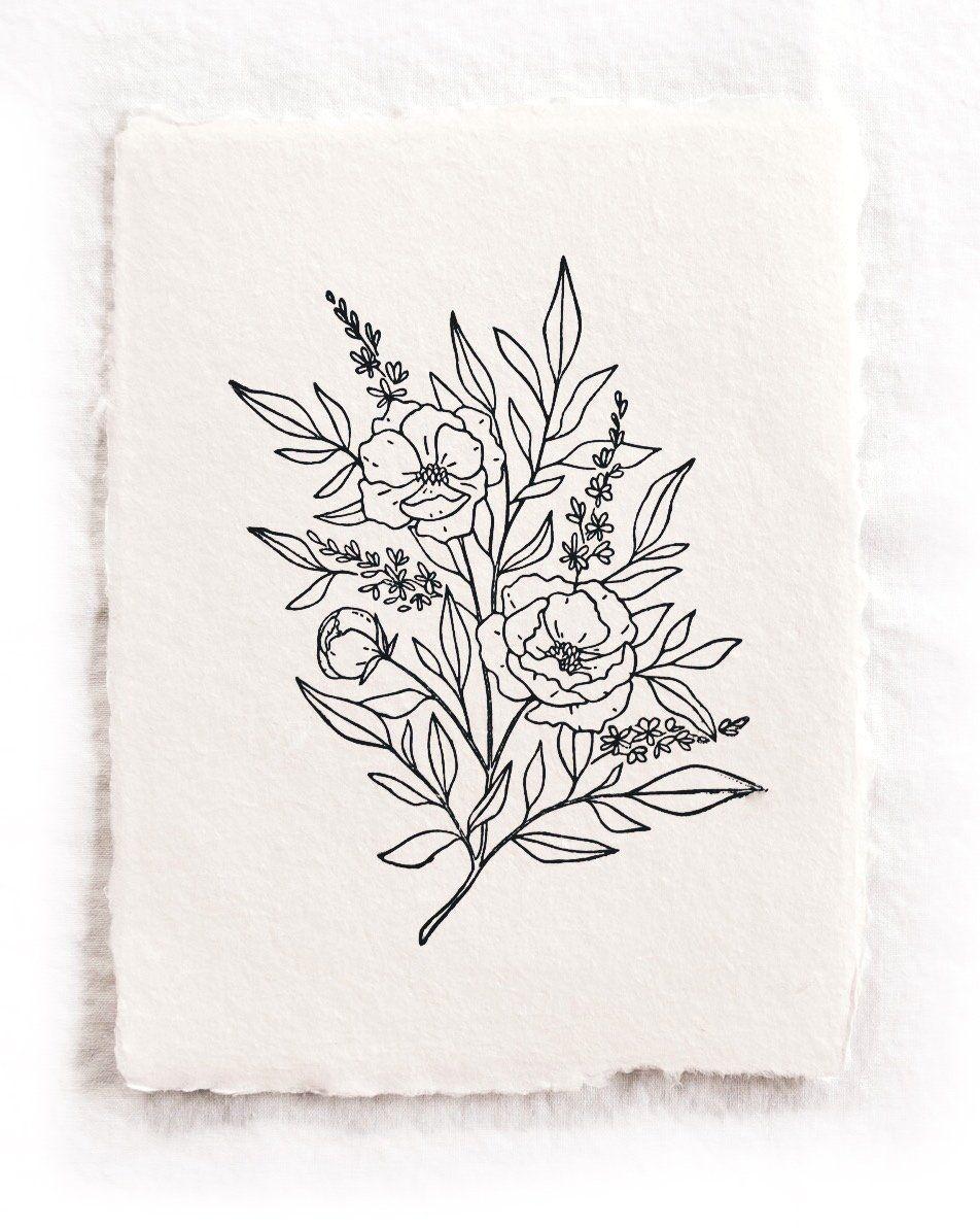Photo of 8×10 'Flourish' Block Print