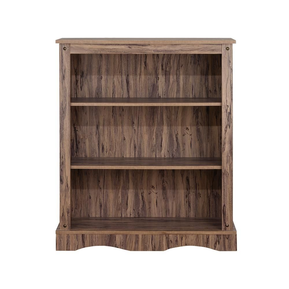 Elegant Home Fashions 40 In Maple Wood 3 Shelf Standard Bookcase With Storage Hdbk6642 House Styles Elegant Homes Shelves