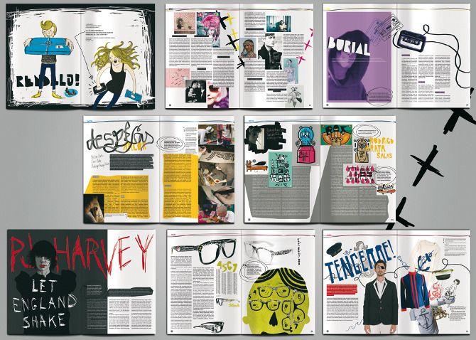 music magazine page layout google search moodboard