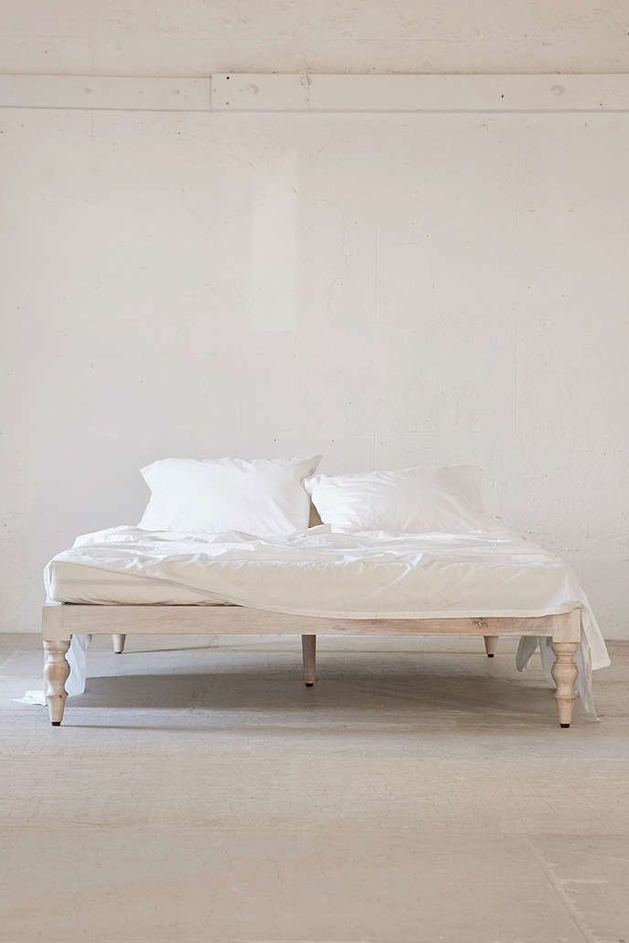 Bohemian Platform Bed in 2020 | White platform bed ... on Modern Boho Bed Frame  id=77209