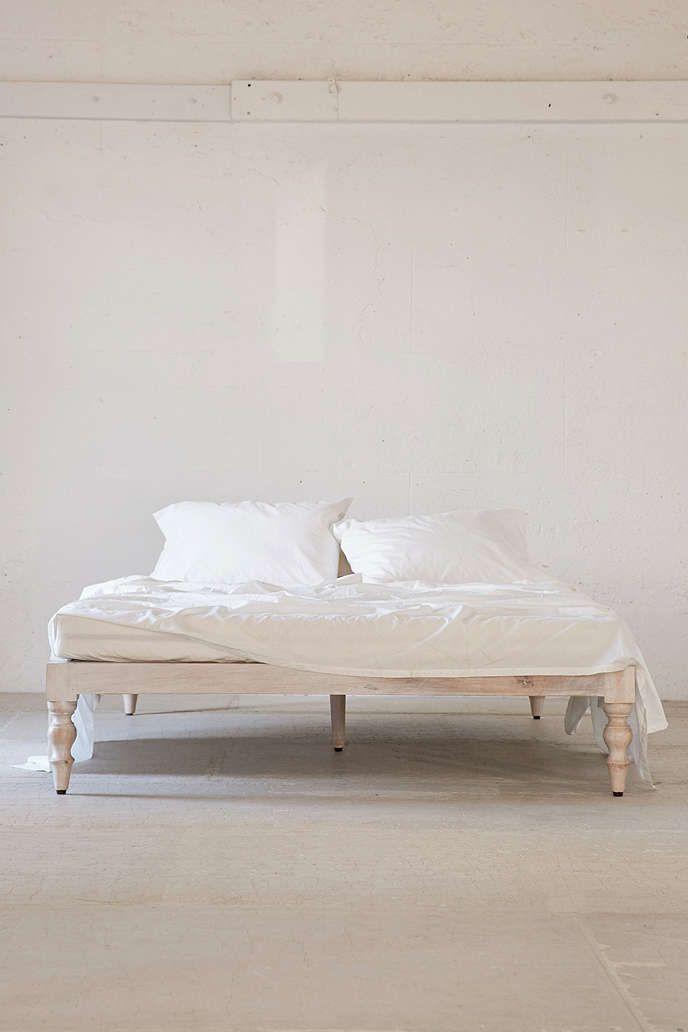 Bohemian Platform Bed in 2020   White platform bed ... on Modern Boho Bed Frame  id=77209