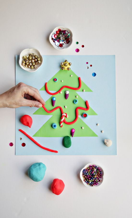 diy christmas activity craft for toddlers preschoolers and kids make play dough christmas tree play doh