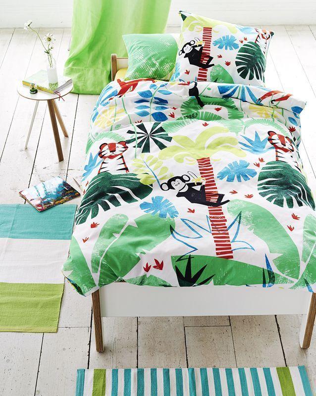 taie d 39 oreiller jungle playtime coton 50x75 designers guild designers and room. Black Bedroom Furniture Sets. Home Design Ideas