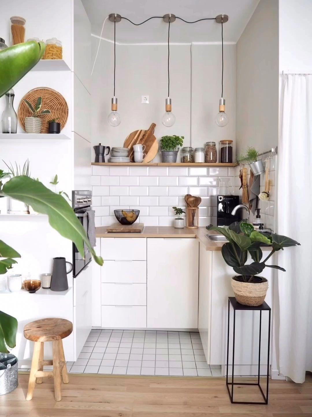 Küche #diy #metro #metrofliesen #kleineküche #kitchenshelvingideas