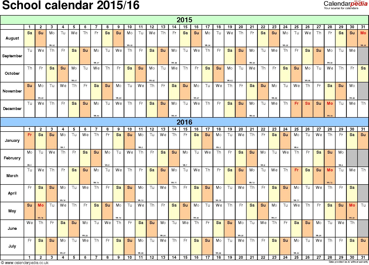 calendar template 2015 16