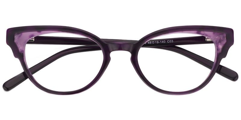 d3b0d785e920 Zeelool Prescription Eyeglasses Simone Cat Eye Glasses Purple Frame 0297-02