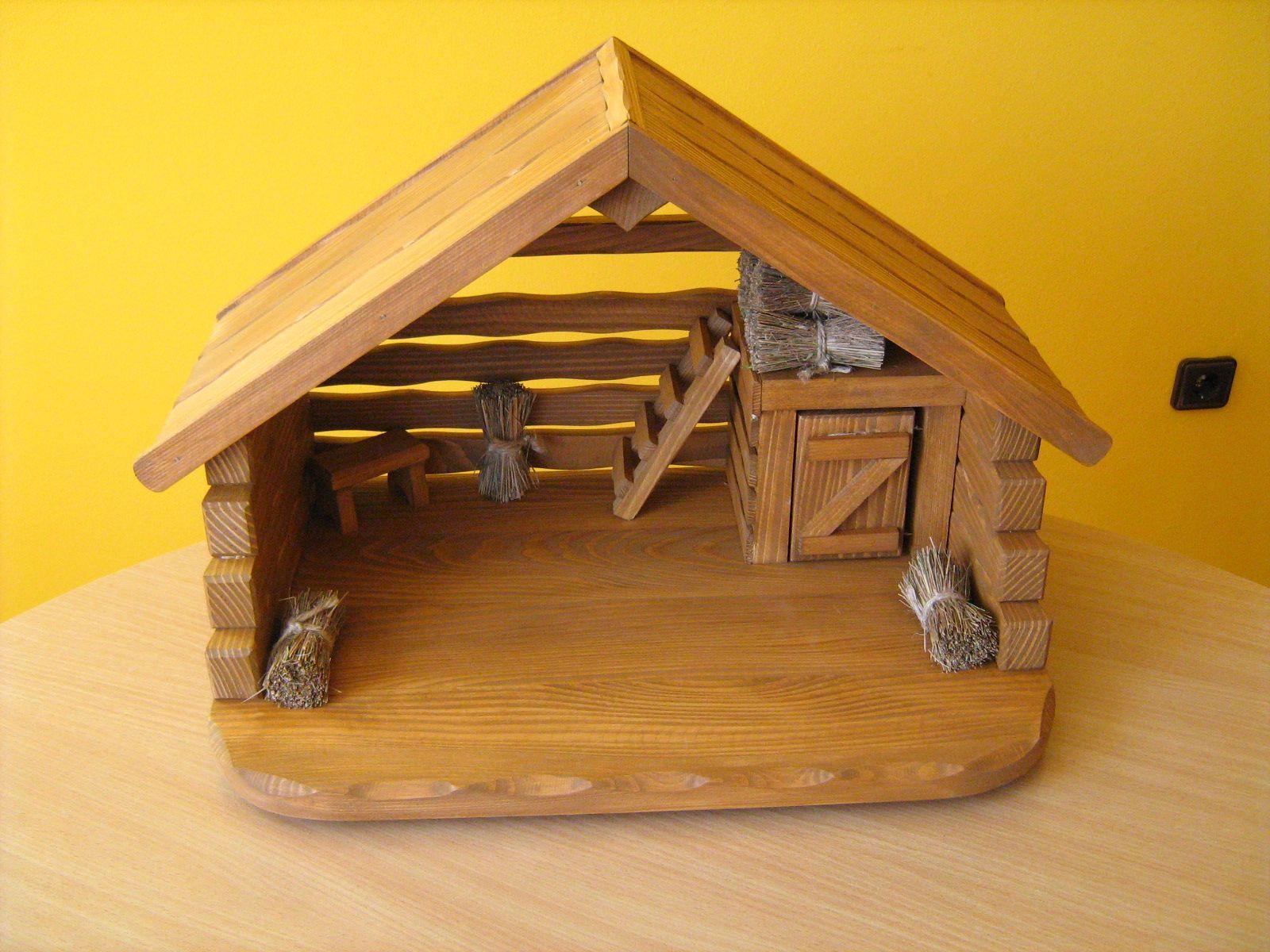 Szopka Bozonarodzeniowa Do Figurek Do16 Cm Nativity Stable Miniature Houses Christmas Decorations