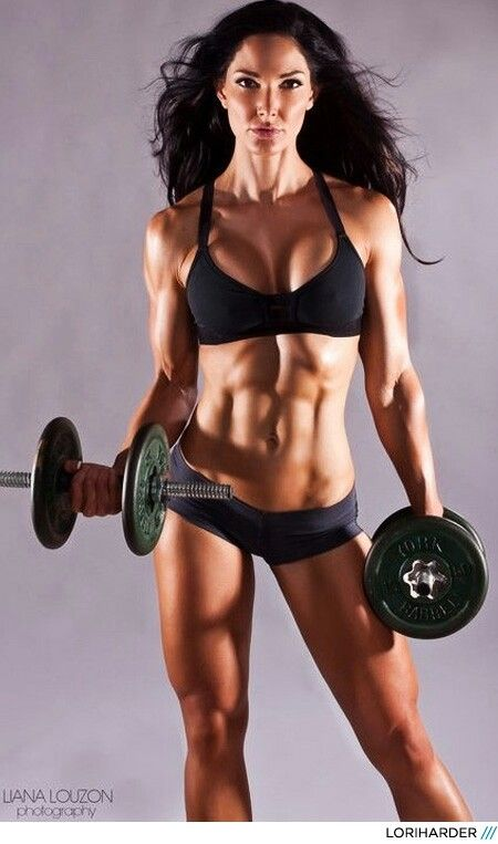 The Muscle Contour Is Great And She Looks Intense Body