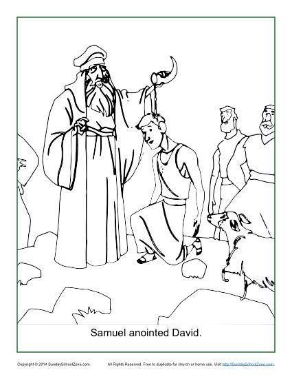 David Coloring Pages David Bible Printables King David