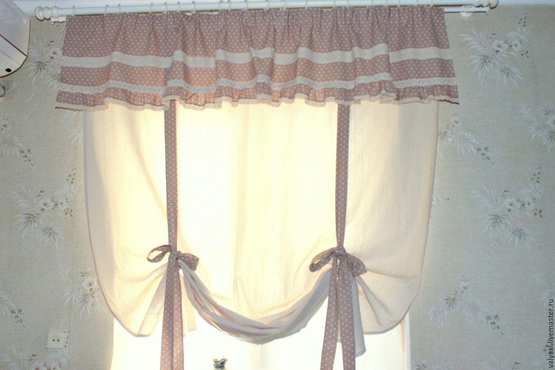 льняные шторы фото для кухни