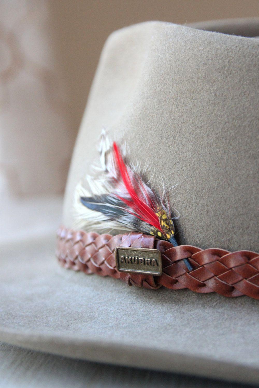 Vintage Akubra Hat With Original Box Snowy River Made In Etsy Akubra Hats Akubra Beaded Hat Bands