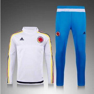 84b07d8aae431 Adidas Chaqueta Entreno Zip Colombia 2016 bianco