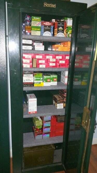 Gun Cabinet Converted To An Ammo