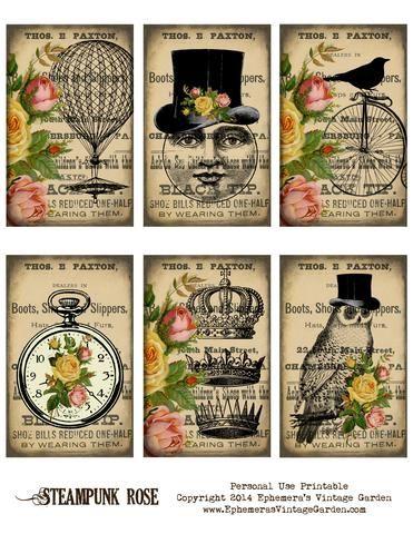 Instant Download Vintage Chandeliers Junk Journaling Ephemera Digital Cards Printable Gift Tags