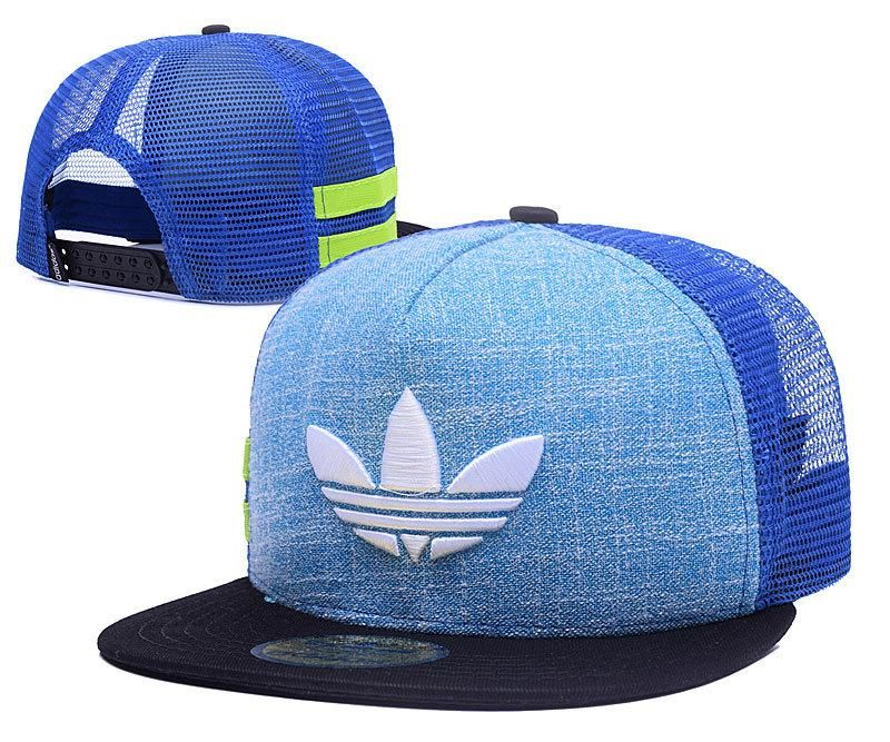 new style 15aaa 35c96 Men s Adidas Originals Clover 3D Embroidery Logo Customized Pattern Mesh  Back Trucker Snapback Hat - Teal   Black   White