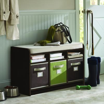 Martha Stewart Living - Espresso Storage Bench with Seat and Cubbie ...