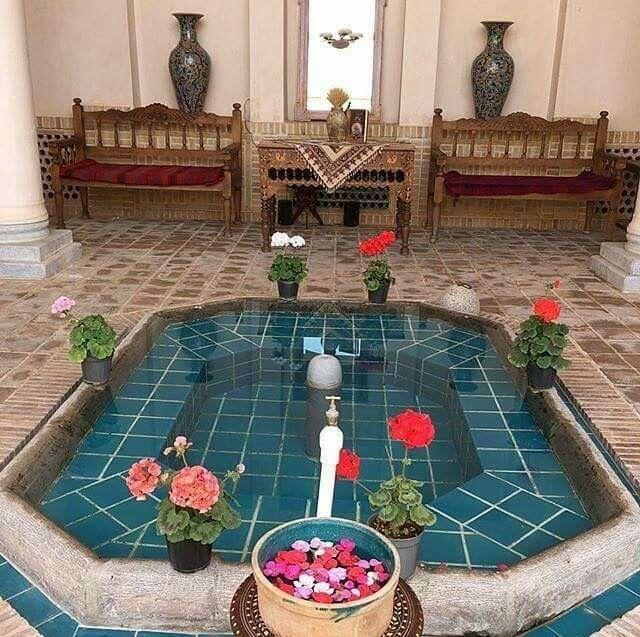 #Teahouse At The Historic Morshedi House, #Kashan, #Iran