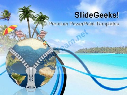 Holiday Vacation Beach Powerpoint Templates And Powerpoint