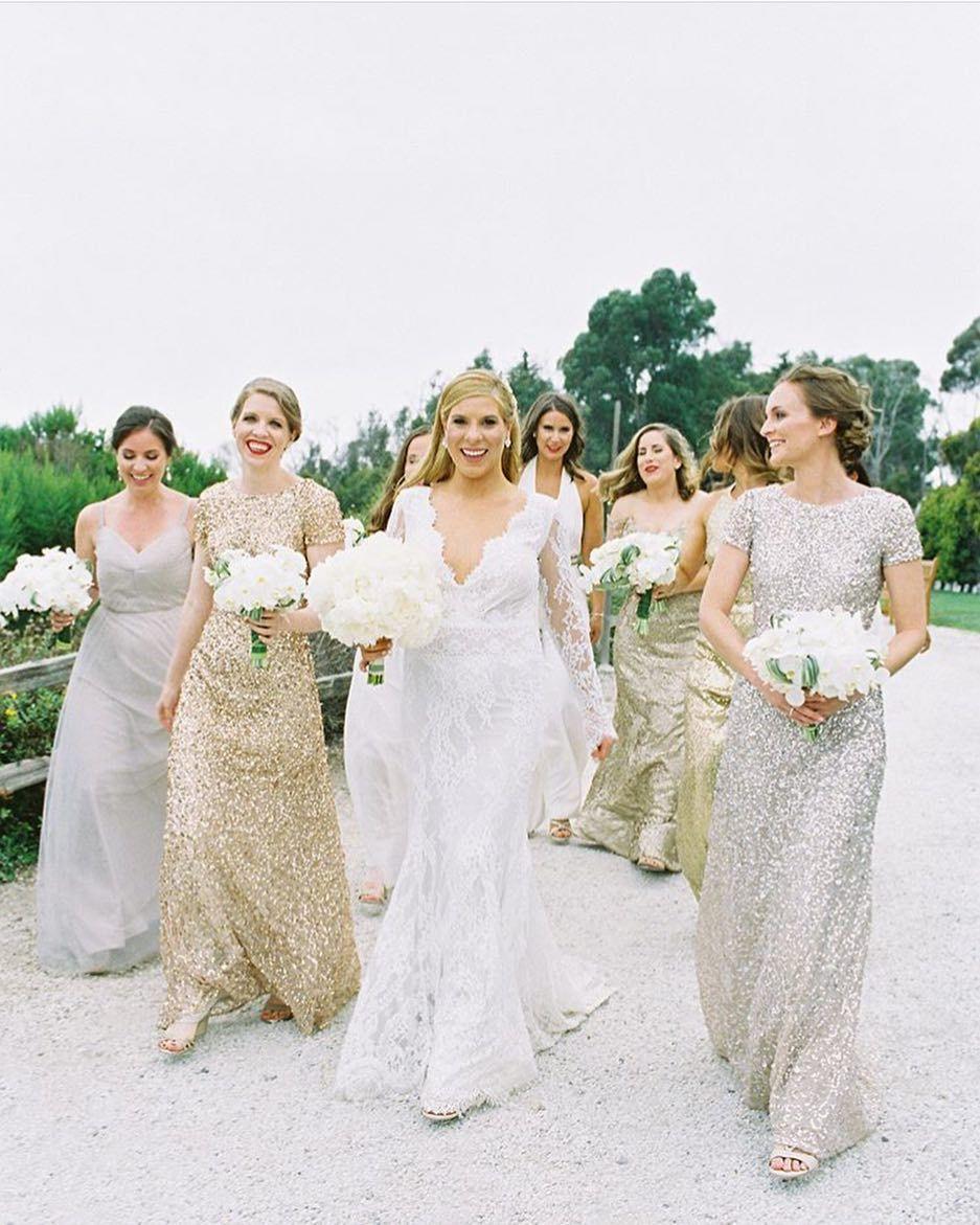 bridal, bridal party, bridesmaids hair and makeup ideas