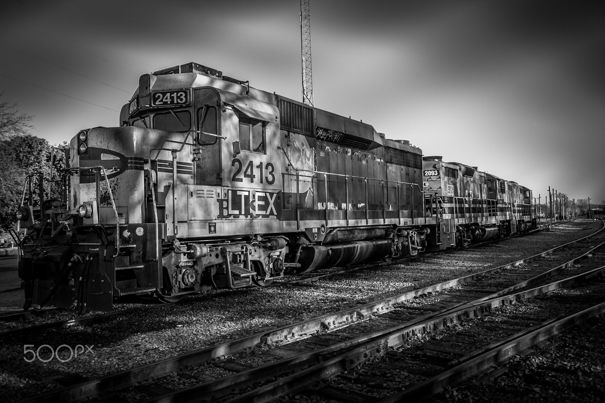 """CSX Engine - I shot this train in Macon, Ga and decided to post process in B&W w Complex Lighting.  Follow me to see more of my work and to buy high quality, professional prints.  <a href=""""http://www.liamphotography.net""""></a>Website 