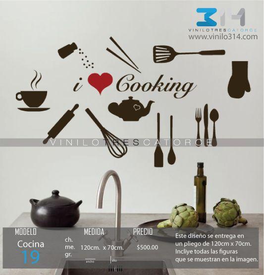 Vinilo 3 14 vinilos decorativos utensilios de cocina for Vinilos decorativos para cocina