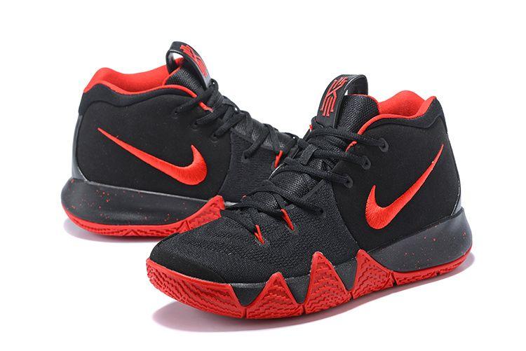 more photos bde24 0f619 Legit Cheap 2018 Men Nike Kyrie 4 Coal Black Varsity Red