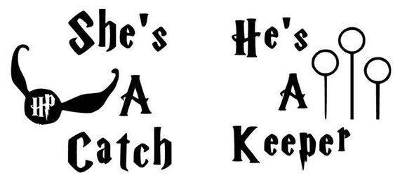A For Keeper Potter Decal Vinyl He's Matching CatchShe's Harry dtshCQr