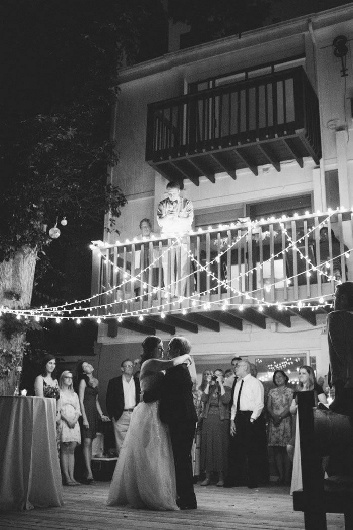 Madison and Eric's 34 guest $7,000 backyard wedding at the groom's parents' home. Photos by Sarah Christine Davis. See more...@intimatewedding #backyardweddings #smallweddings