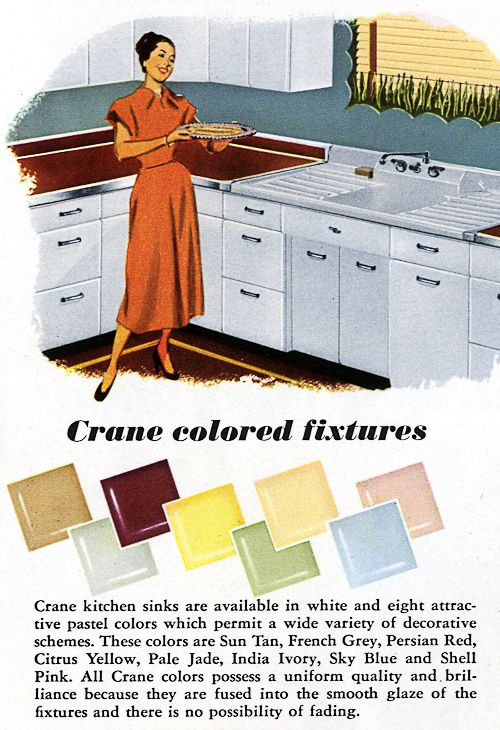 1953 Crane Kitchen Cabinets And Sinks Retro Renovation 2017 1953036 2