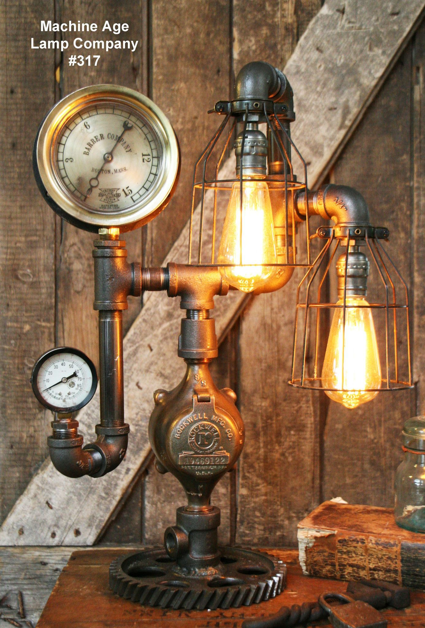 Steampunk industrial lamp steam gauge 317 sold gauges steampunk industrial lamp steam gauge 317 sold greentooth Images