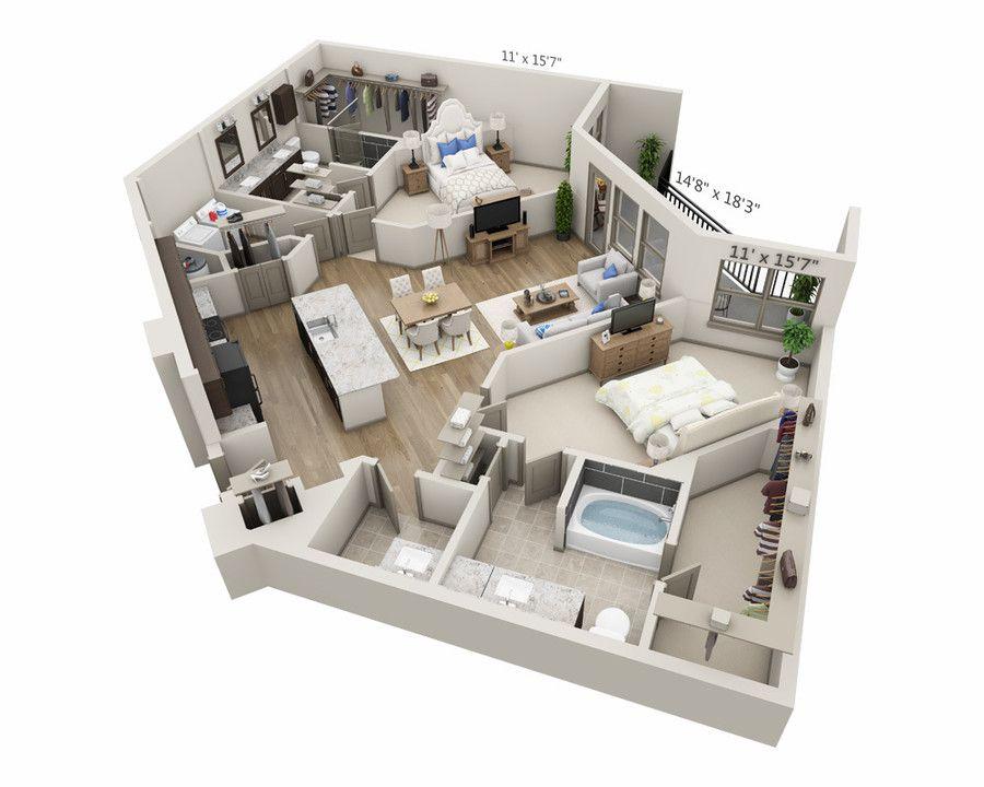 Can You Get An Apartment At 18 In Texas Overture Plano 55 Apartment Homes Apartments Plano Tx Apartments Com Hotel Room Design Studio Apartment Floor Plans Floor Plan Design