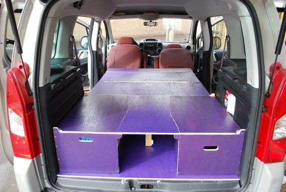 am nagement d un berlingo en ludospace vhl loisir pinterest minivan camping van camping. Black Bedroom Furniture Sets. Home Design Ideas