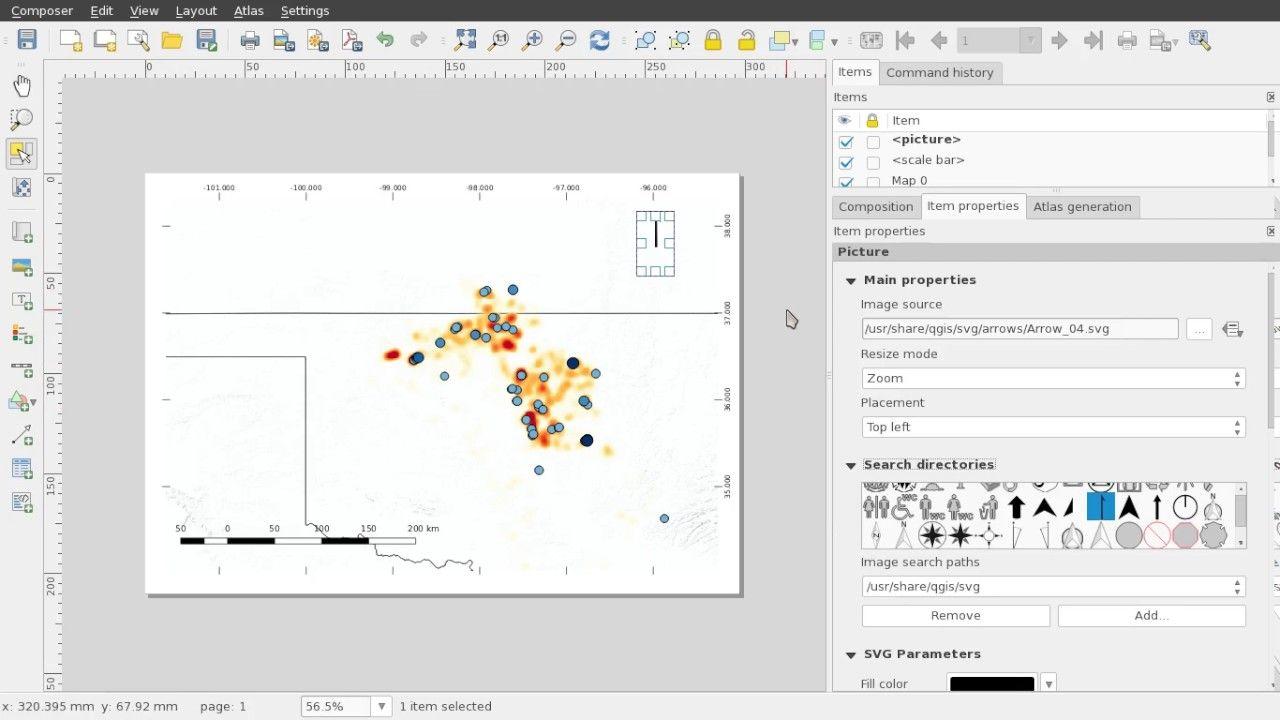 QGIS Add Legend Scale Bar and North Arrow | Geospatial / GIS