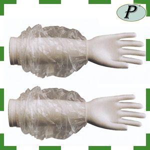 Manguitos de polietileno desechables, manguitos incoloros, transparentes para proteger el brazo del usuario. Vestuario de un solo uso en: http://www.tplanas.com/manguitos-polietileno-incoloro.html
