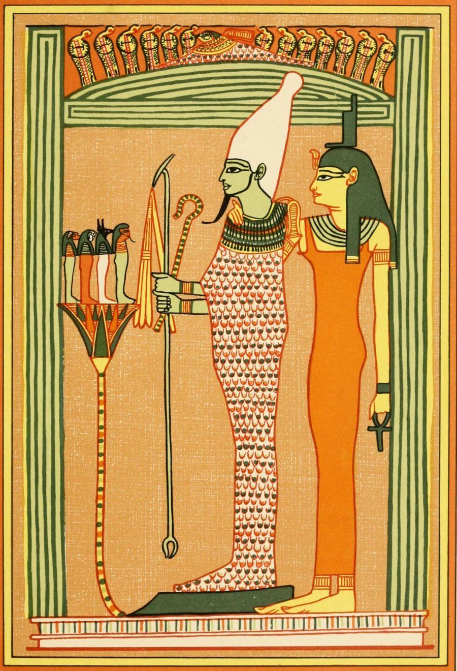 The Gods of the Egyptians 1904, Osiris & Isis  #egypt | God of Egypt