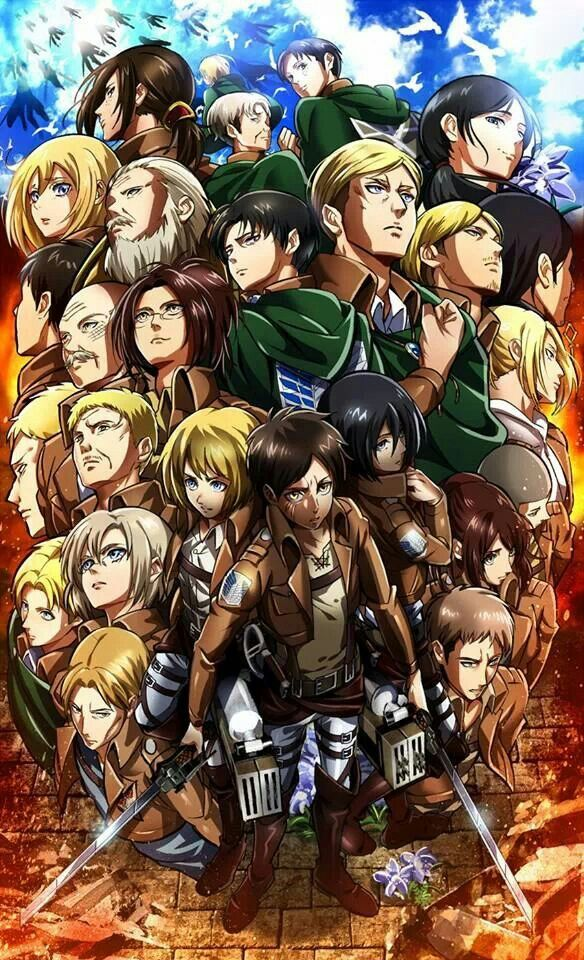 Attack On Titan Characters With Images Attack On Titan Anime