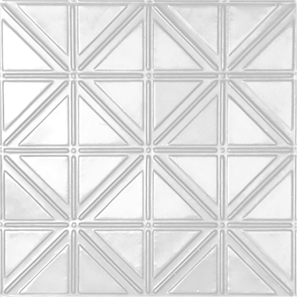 2 Feet X White Finish Steel Lay In Ceiling Tile Design Repeat Every