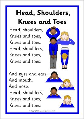 Head Shoulders Knees And Toes Song Sheet Sb10974 Sparklebox