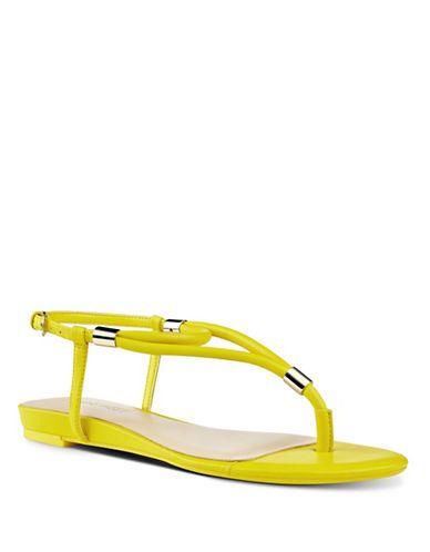 fb987dce314feb Nine West Rivers Slingback Thong Sandals Women s Yellow 9.5