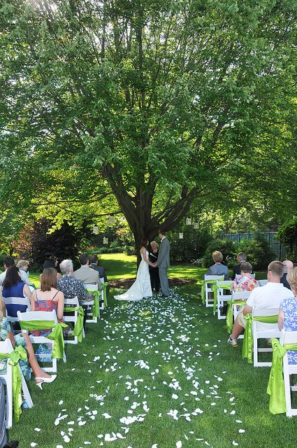 Outdoor Wedding At Avon Gardens Indiana