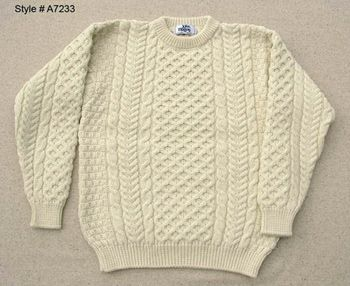 Love is an Irish knit sweater.   Irish knit sweaters ...
