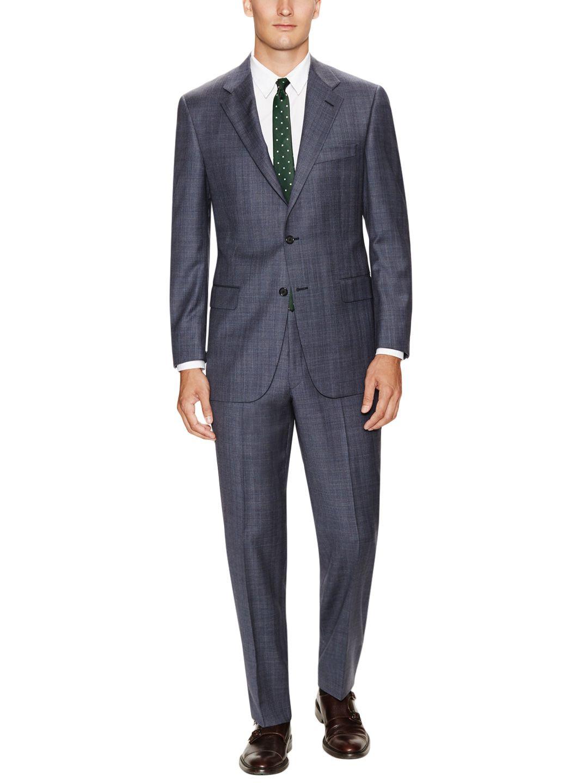 Grey Wool Plaid Suit