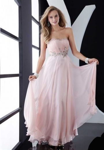 Simple and Elegant Pink Prom Dress