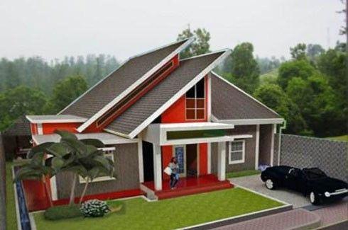 Contoh Atap Miring Modern Exterior Rumah Rumah Minimalis Rumah