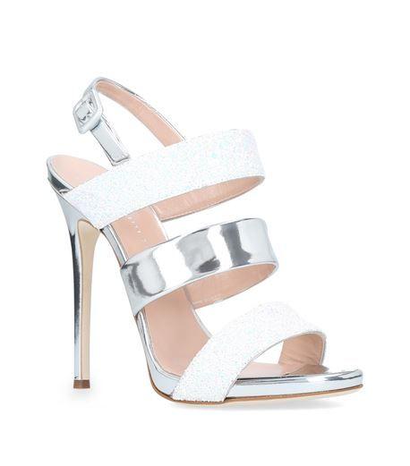 pearl embellished sling back sandals - White Giuseppe Zanotti z9vDUR