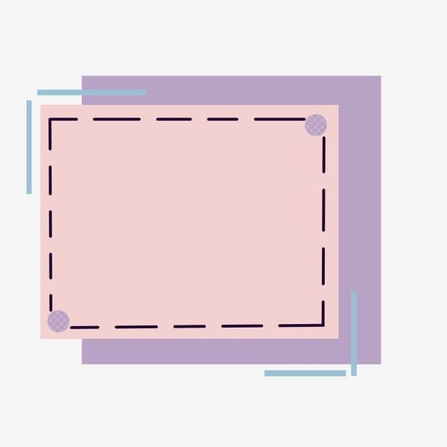 Simple Border Color Candy Frame Line Cute, Rectangle Clipart, Simple Border, Hand Painted Border PNG Transparent Clipart Image and PSD File for Free Download