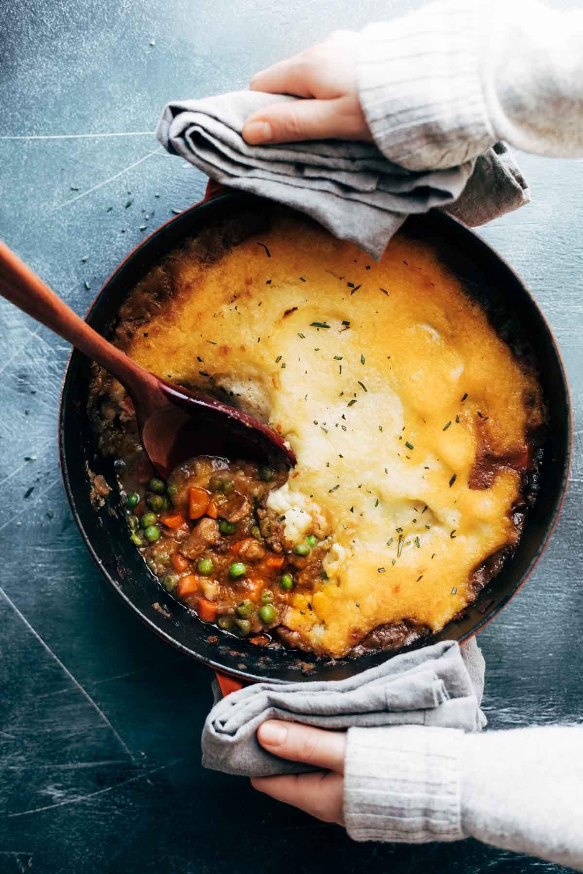 Vegetarian Shepherd S Pie Pinch Of Yum Recipe Vegan Casserole Recipes Vegetarian Shepherds Pie Recipes